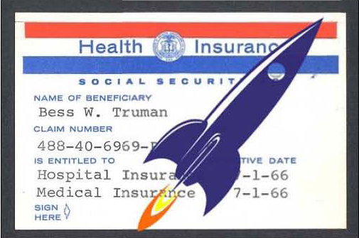 Truman Medicare Card with Rocket