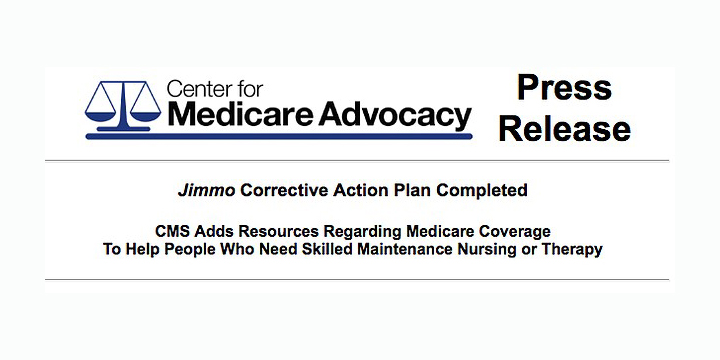 Improvement Standard and Jimmo News | Center for Medicare
