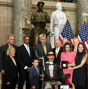 Steve gleason Receiving the Congressional Gold Medal